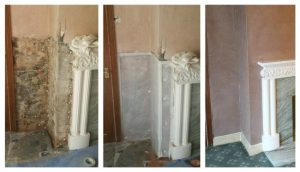damp proofing in barnsley - image shows before and after rising damp
