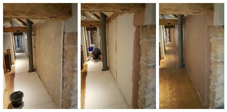 before and after damp proofing in barnsley