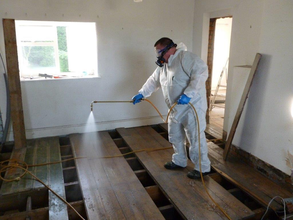 woodworm timber treatments in Barnsley